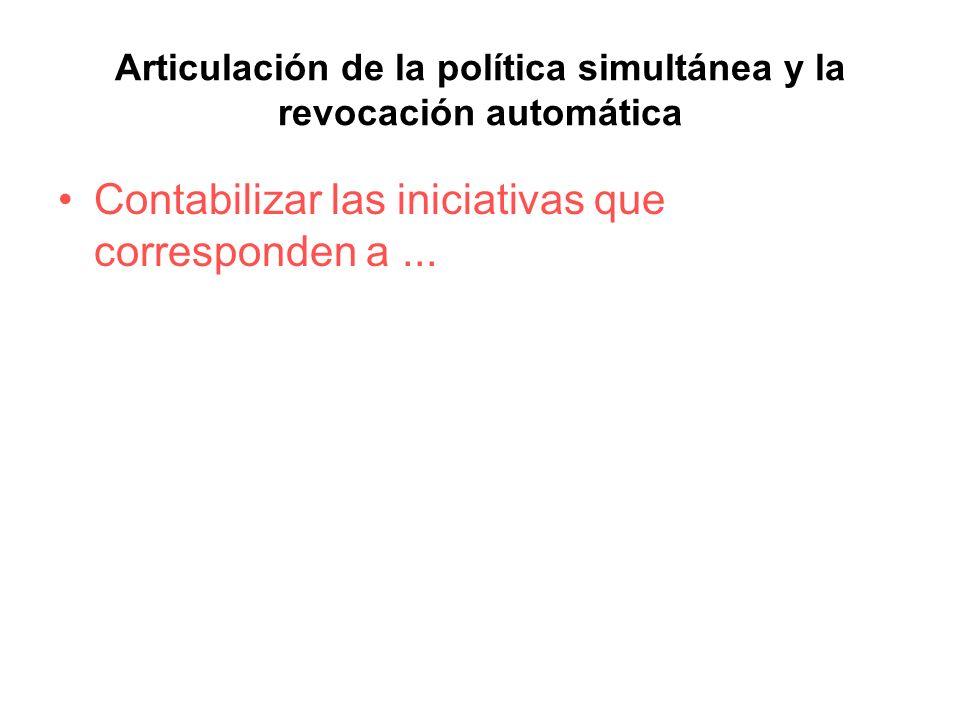 Articulación de la política simultánea y la revocación automática
