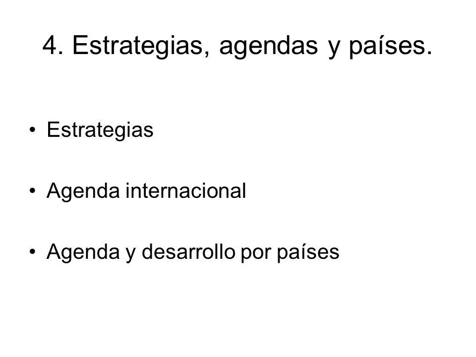 4. Estrategias, agendas y países.