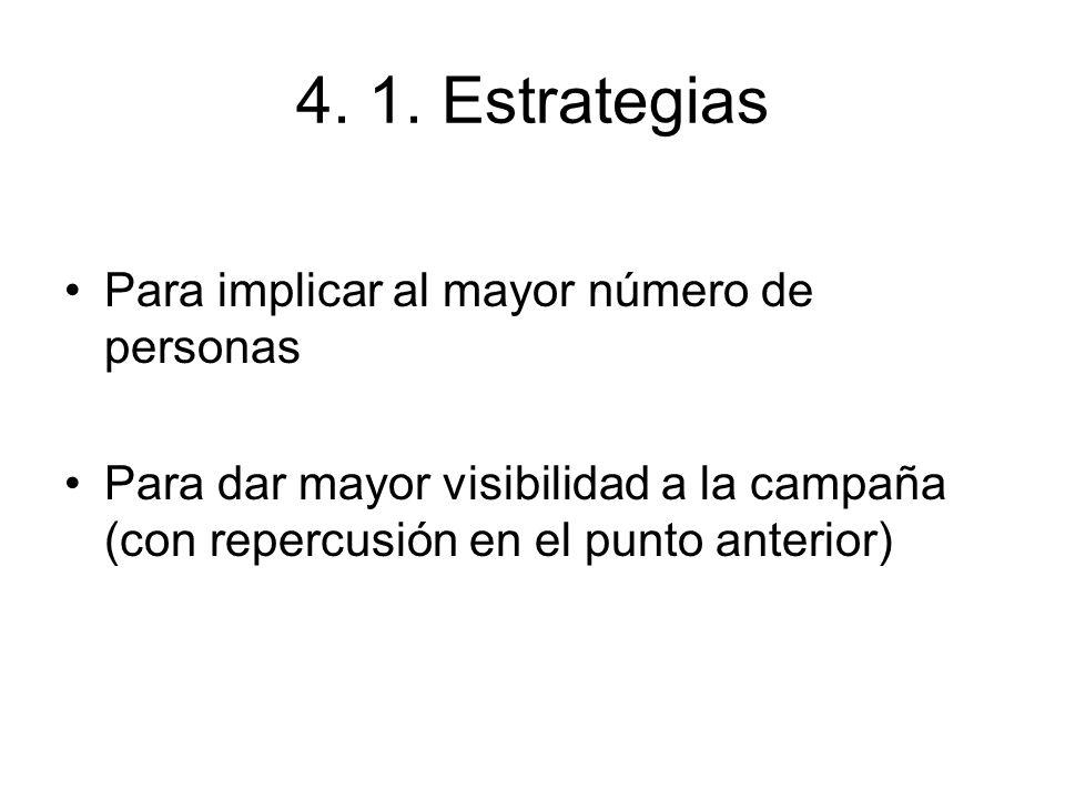 4. 1. Estrategias Para implicar al mayor número de personas