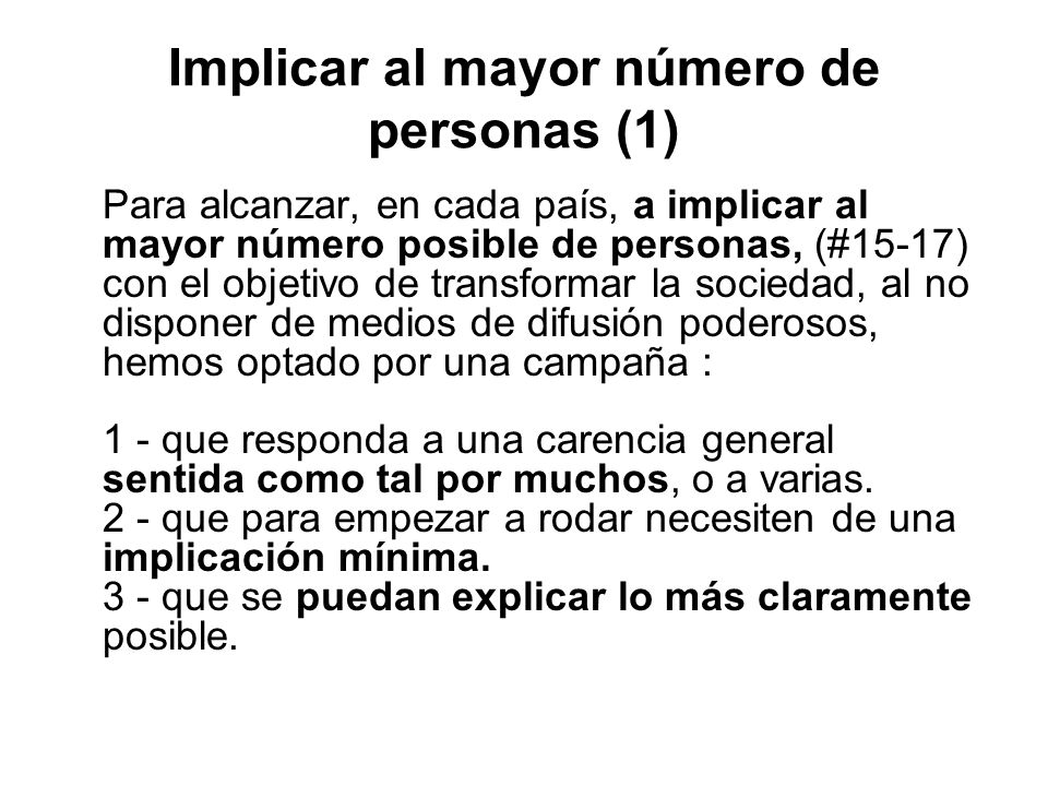 Implicar al mayor número de personas (1)