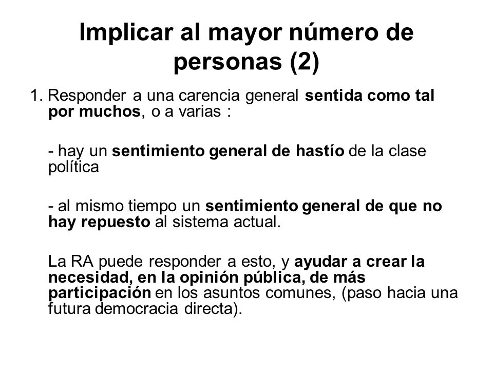 Implicar al mayor número de personas (2)