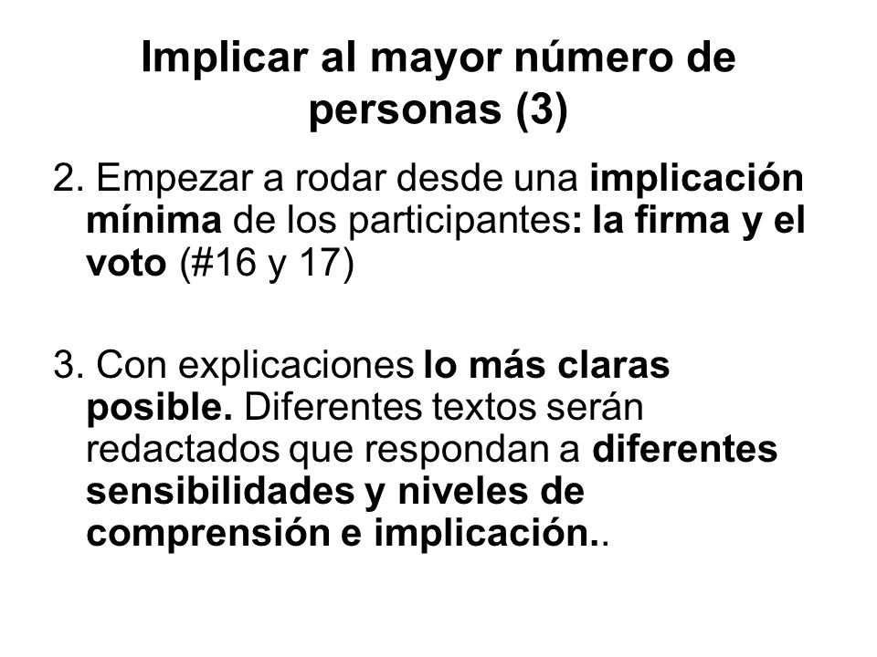 Implicar al mayor número de personas (3)