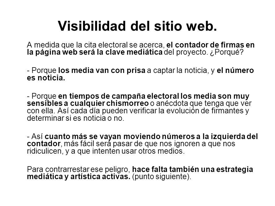 Visibilidad del sitio web.