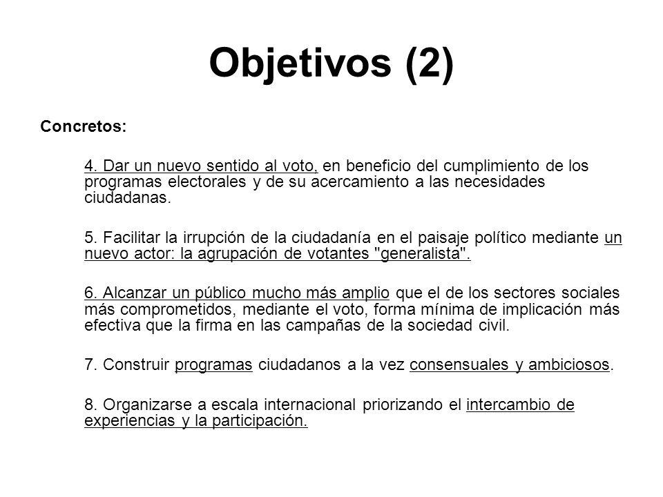 Objetivos (2) Concretos: