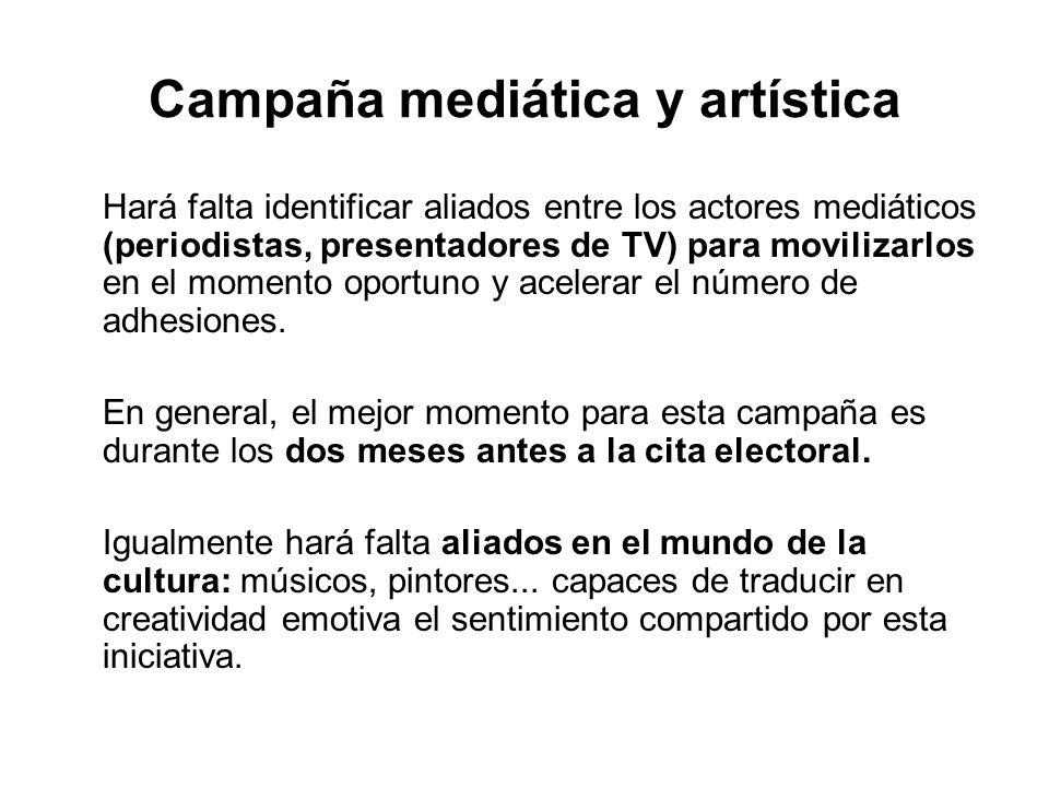 Campaña mediática y artística