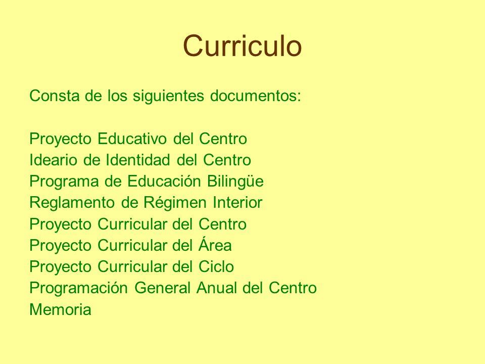 Curriculo Consta de los siguientes documentos: