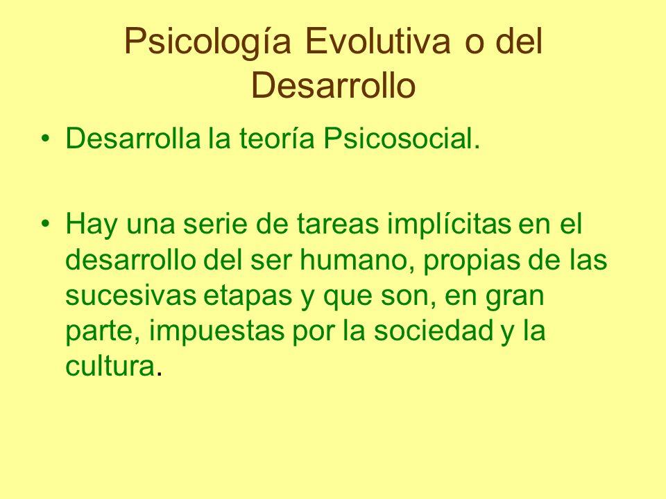 Psicología Evolutiva o del Desarrollo