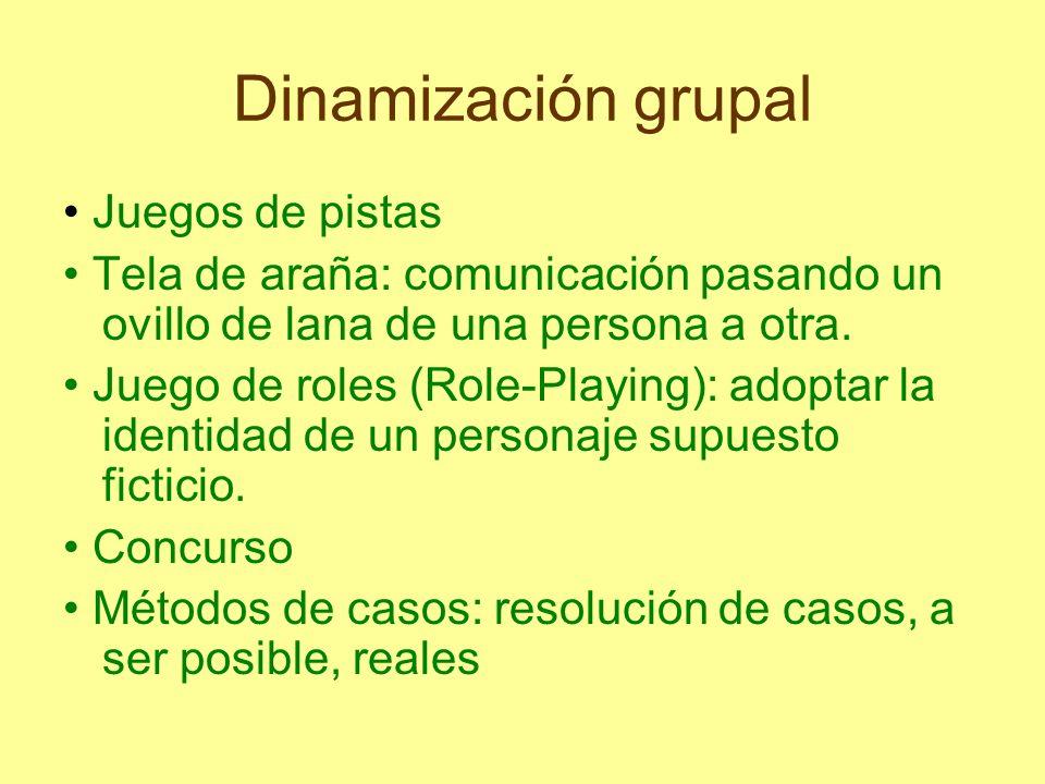 Dinamización grupal • Juegos de pistas