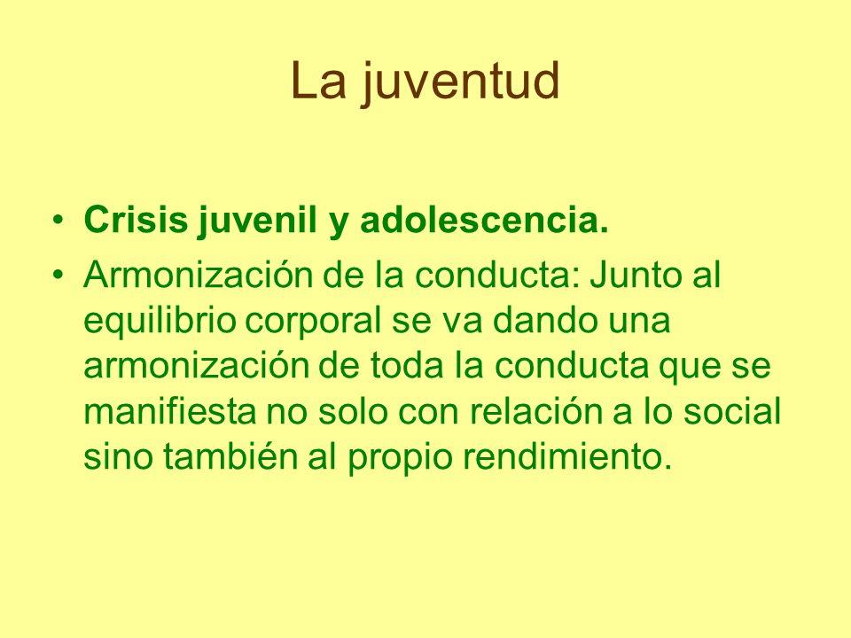 La juventud Crisis juvenil y adolescencia.