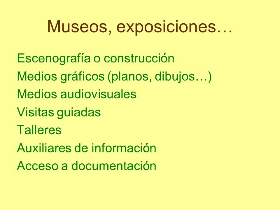 Museos, exposiciones… Escenografía o construcción
