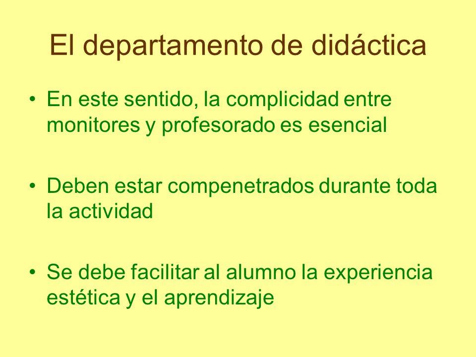 El departamento de didáctica