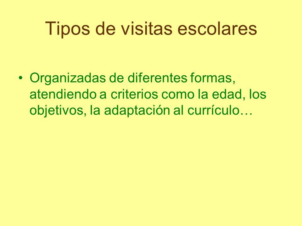 Tipos de visitas escolares