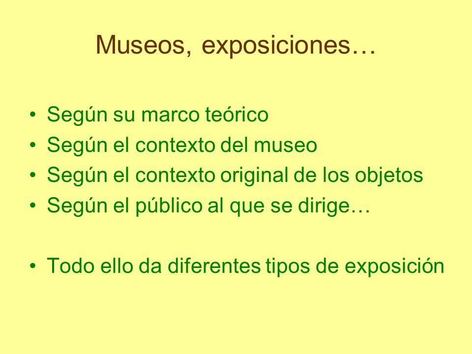 Museos, exposiciones… Según su marco teórico