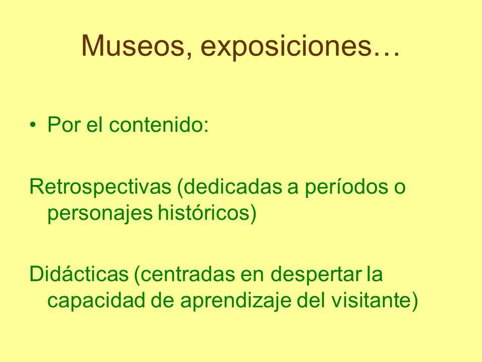 Museos, exposiciones… Por el contenido: