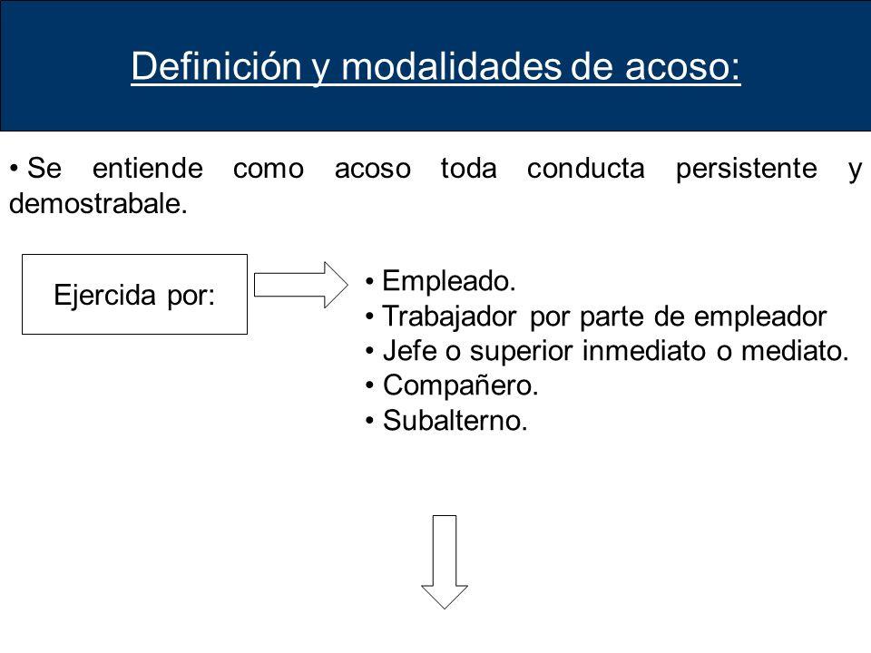 Definición y modalidades de acoso: