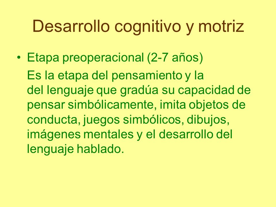 Desarrollo cognitivo y motriz