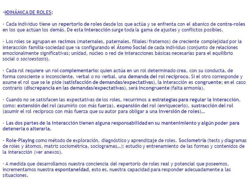 DINÁMICA DE ROLES: