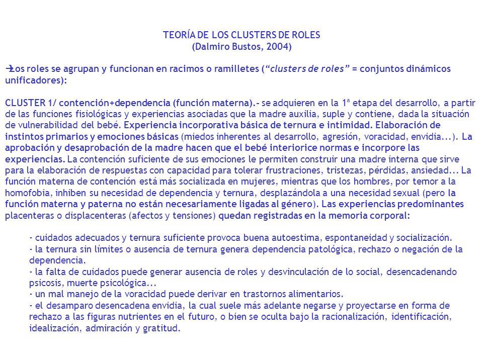 TEORÍA DE LOS CLUSTERS DE ROLES