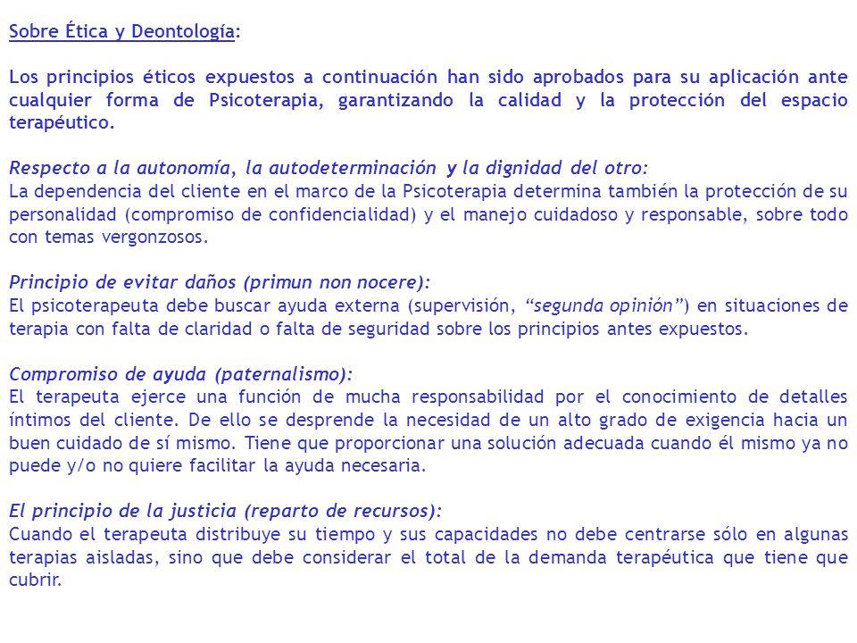 Sobre Ética y Deontología: