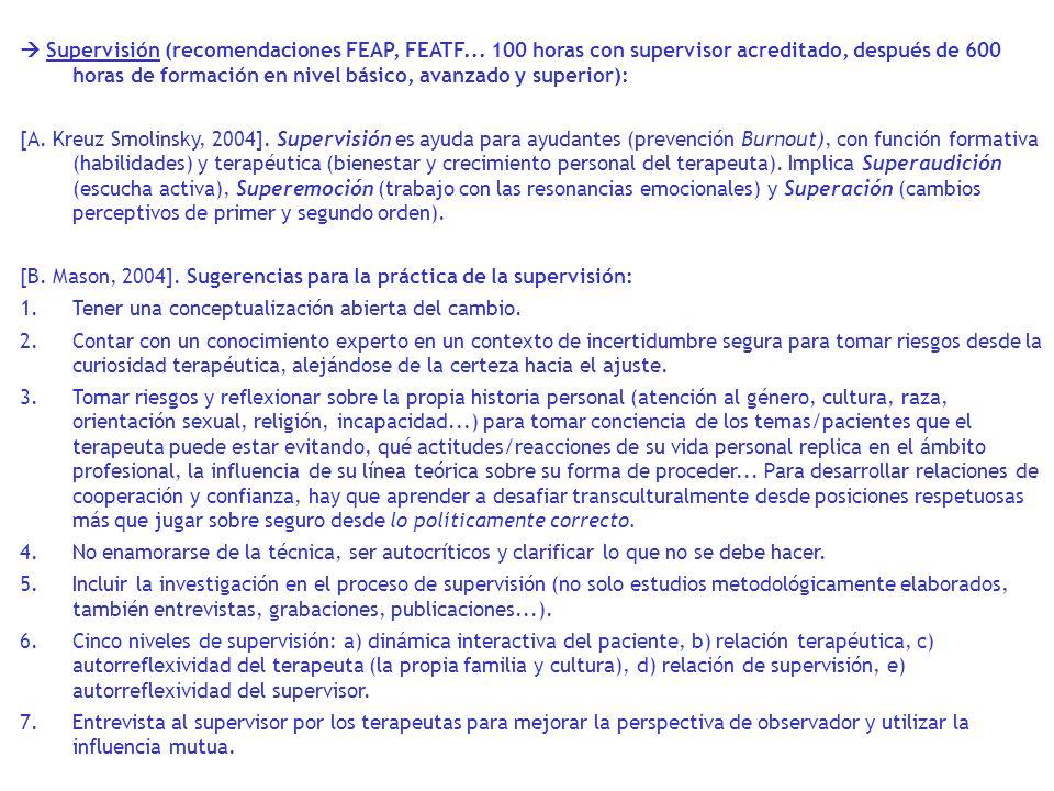  Supervisión (recomendaciones FEAP, FEATF