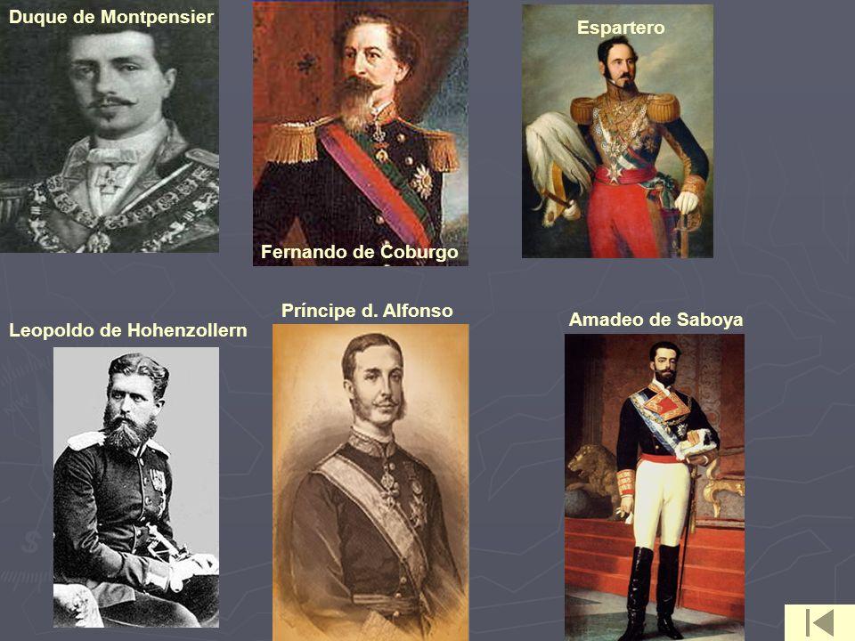 Duque de Montpensier Espartero. Fernando de Coburgo.
