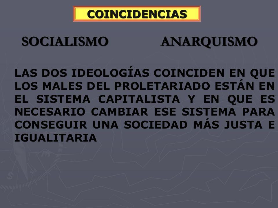 SOCIALISMO ANARQUISMO