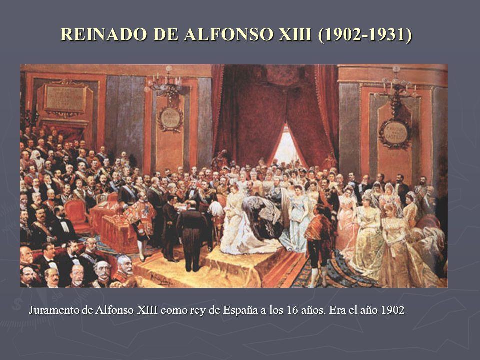 REINADO DE ALFONSO XIII (1902-1931)