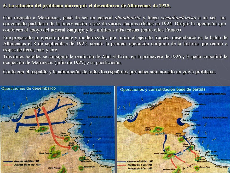 5. La solución del problema marroquí: el desembarco de Alhucemas de 1925.