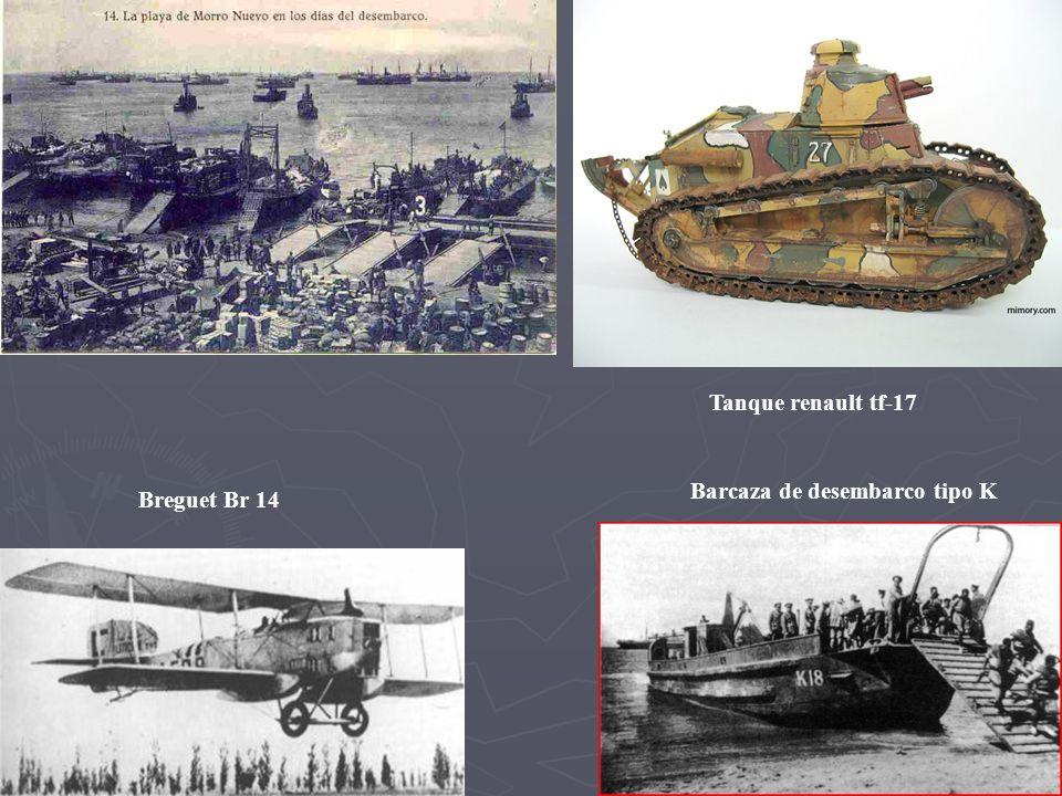 Tanque renault tf-17 Barcaza de desembarco tipo K Breguet Br 14