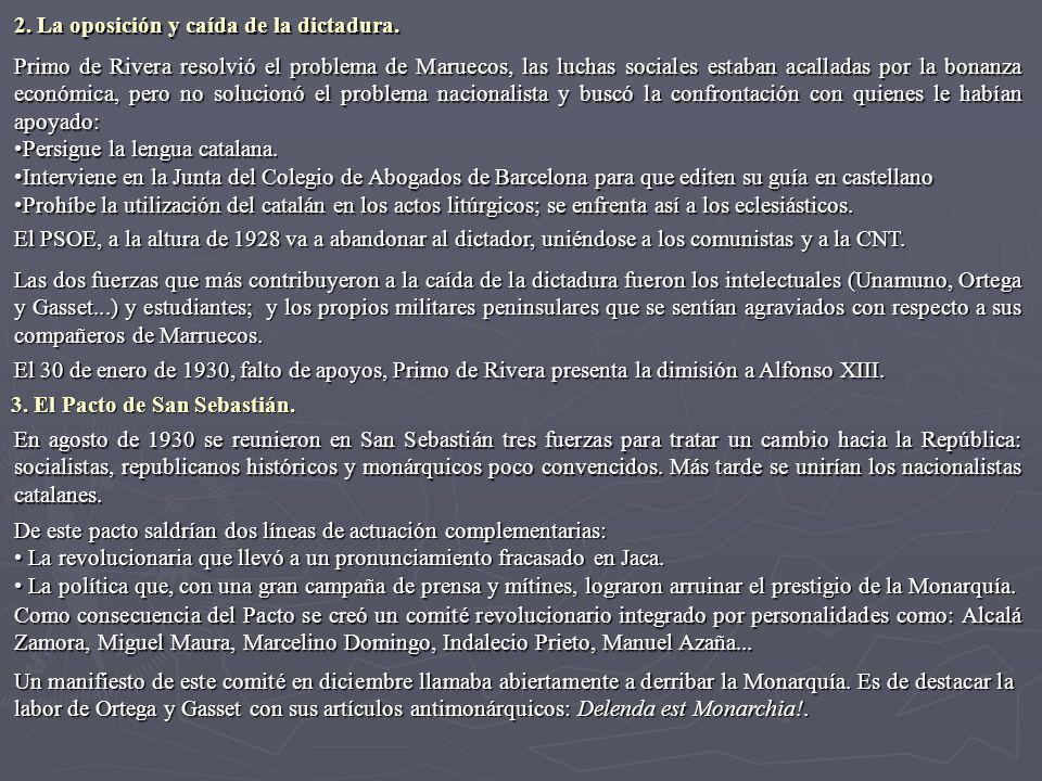 2. La oposición y caída de la dictadura.