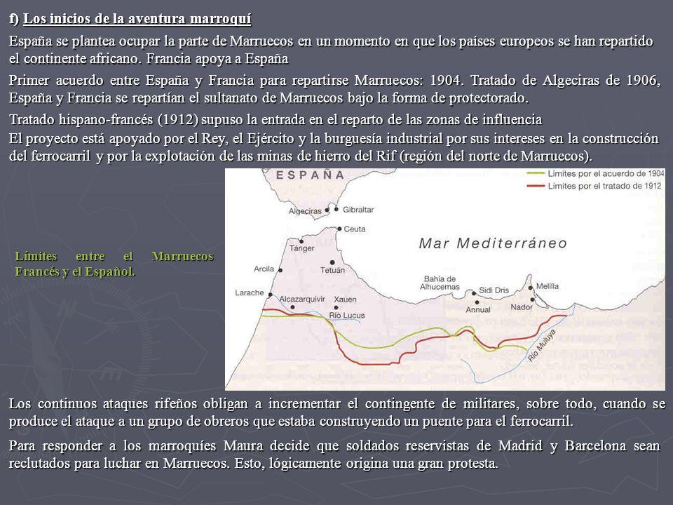 f) Los inicios de la aventura marroquí