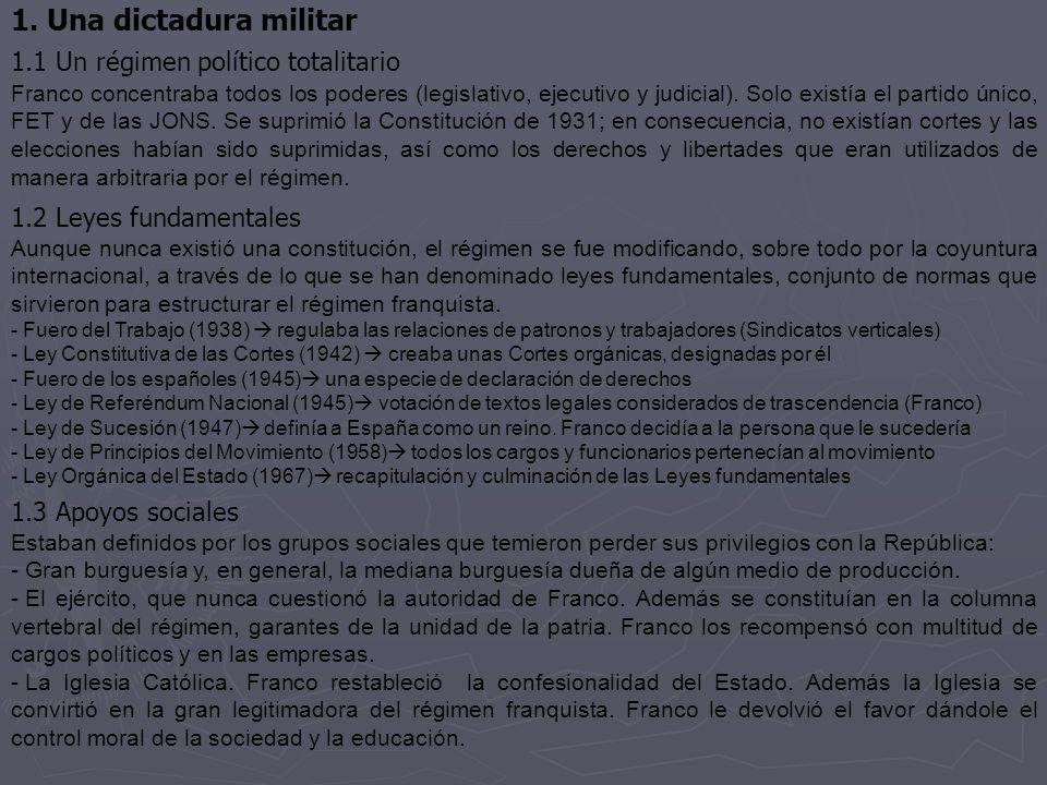 1. Una dictadura militar 1.1 Un régimen político totalitario