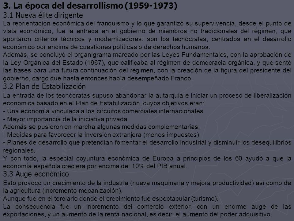 3. La época del desarrollismo (1959-1973)