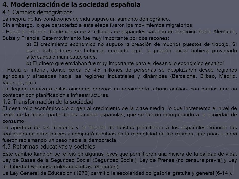 4. Modernización de la sociedad española