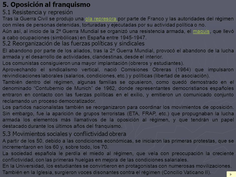 5. Oposición al franquismo
