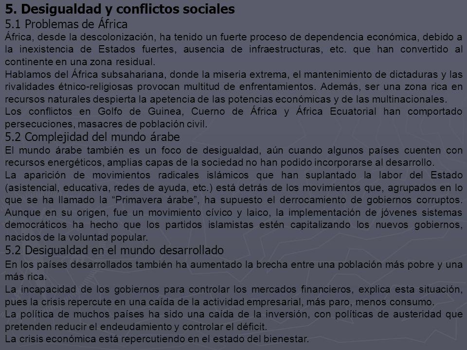 5. Desigualdad y conflictos sociales