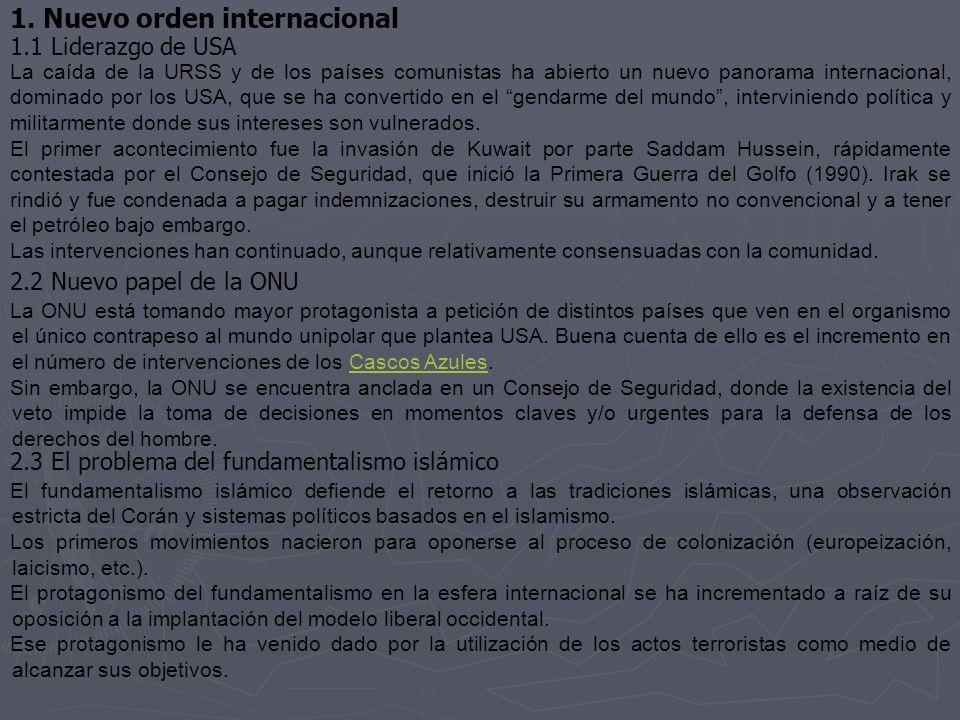 1. Nuevo orden internacional