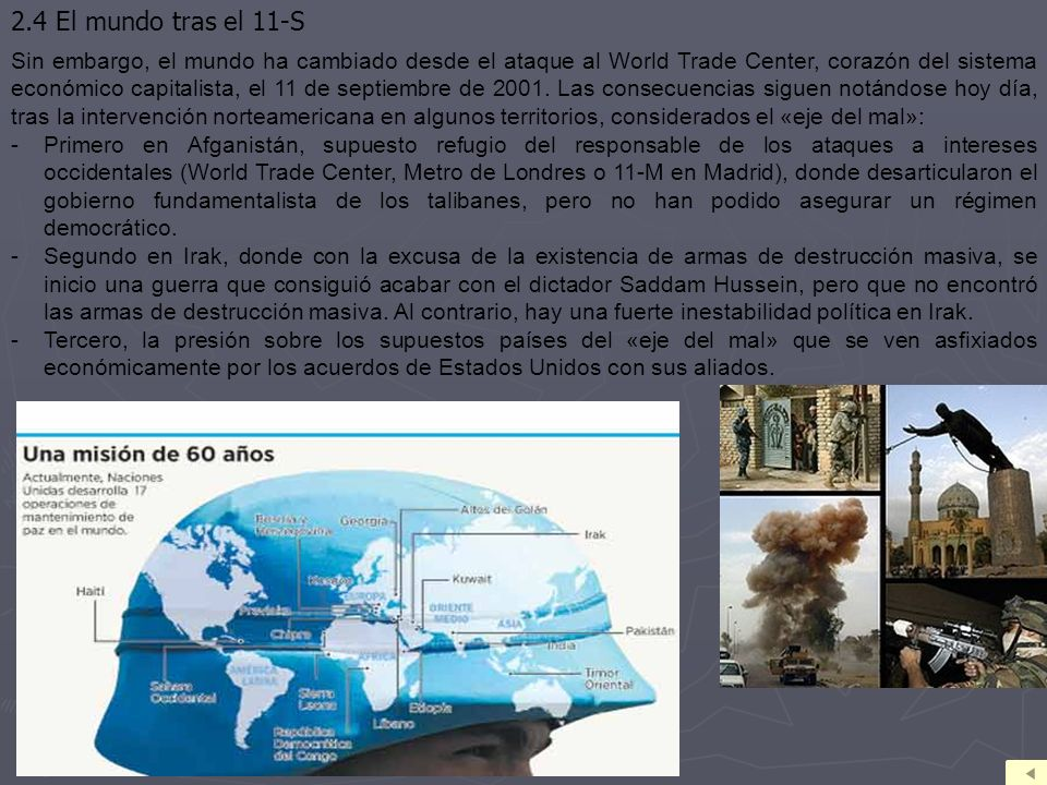 2.4 El mundo tras el 11-S