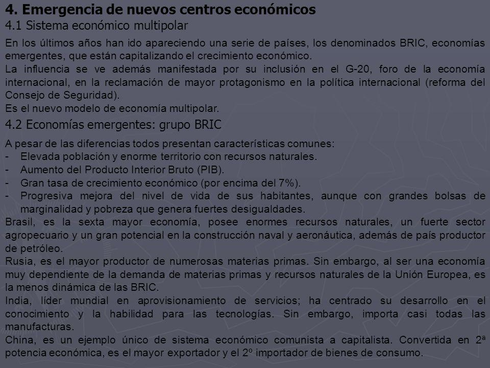 4. Emergencia de nuevos centros económicos