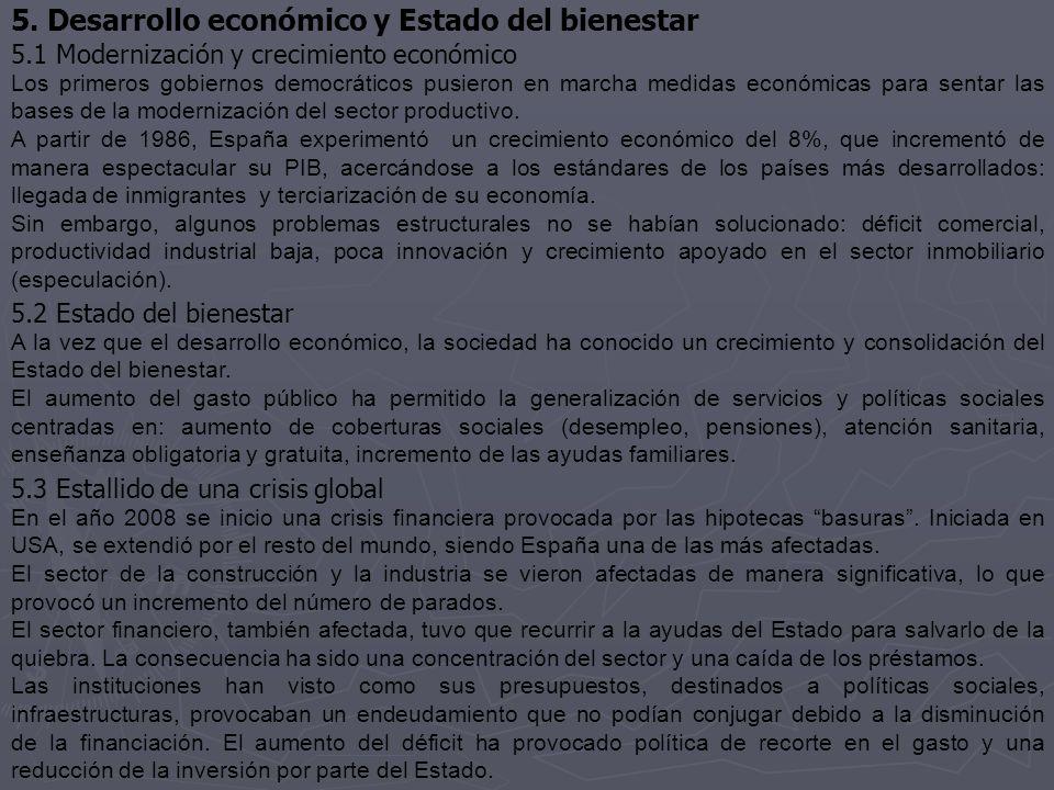 5. Desarrollo económico y Estado del bienestar