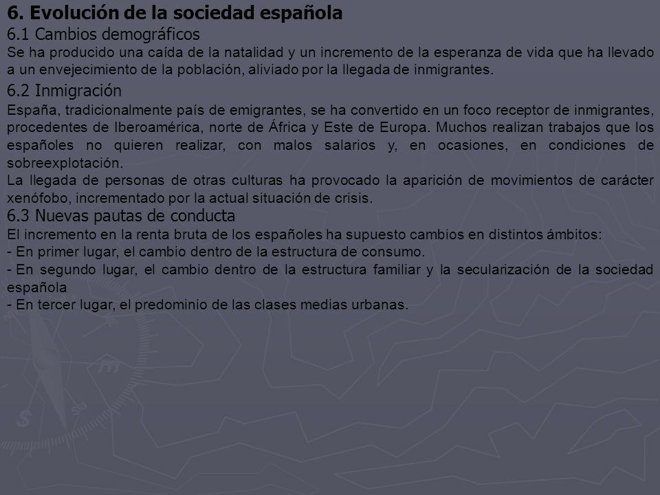 6. Evolución de la sociedad española