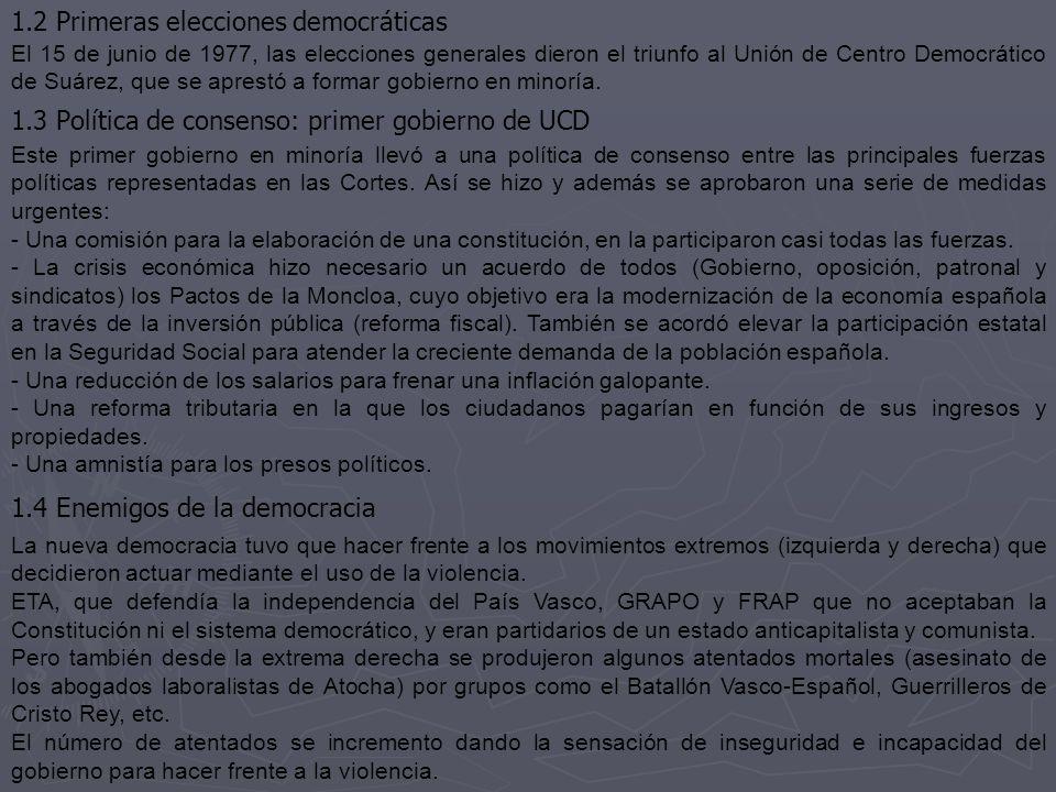1.2 Primeras elecciones democráticas