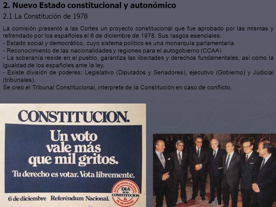 2. Nuevo Estado constitucional y autonómico