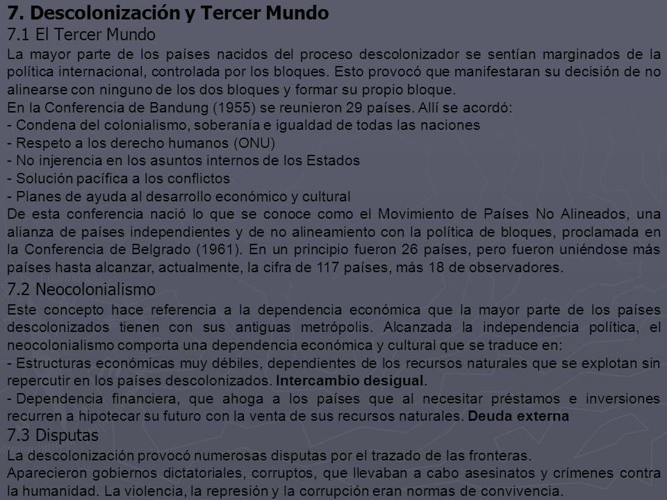 7. Descolonización y Tercer Mundo