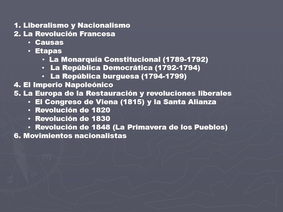 1. Liberalismo y Nacionalismo