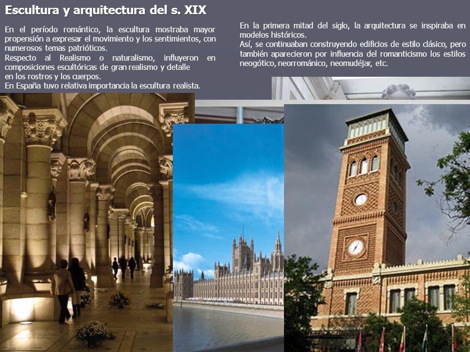Escultura y arquitectura del s. XIX