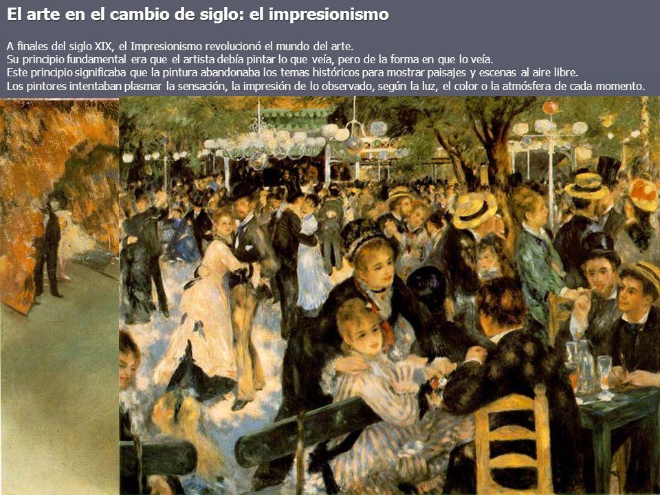 El arte en el cambio de siglo: el impresionismo