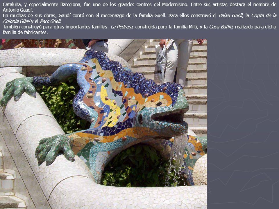 Cataluña, y especialmente Barcelona, fue uno de los grandes centros del Modernismo. Entre sus artistas destaca el nombre de Antonio Gaudí.