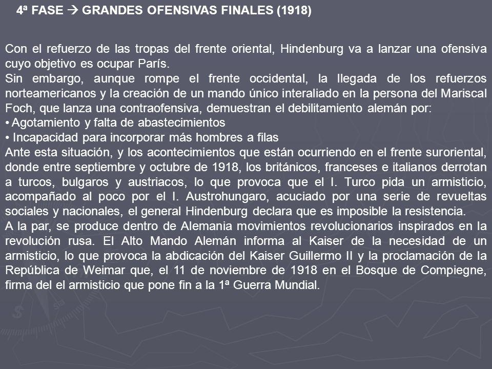4ª FASE  GRANDES OFENSIVAS FINALES (1918)