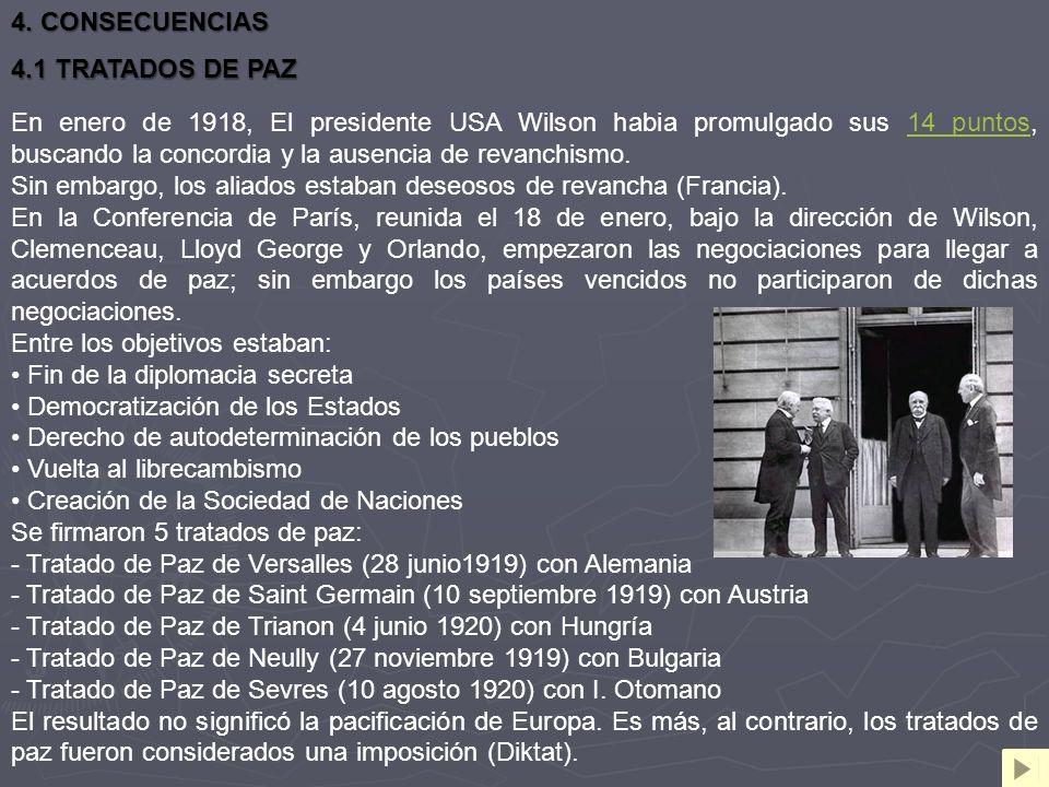 4. CONSECUENCIAS 4.1 TRATADOS DE PAZ.